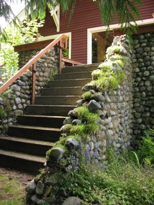 Stone Stairs on north side of B&B
